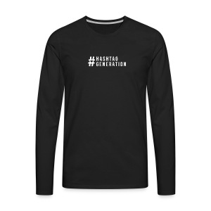 Hashtag generation logo final white - Men's Premium Longsleeve Shirt