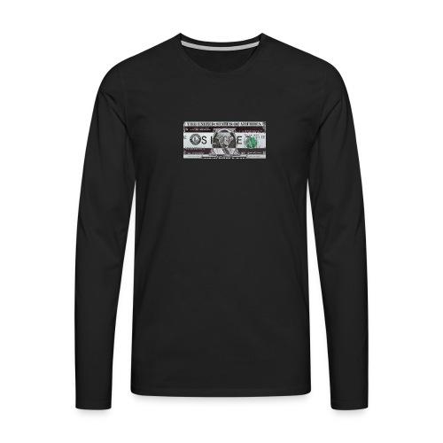 SLOPEZ x ACIDcash logo - Premium langermet T-skjorte for menn