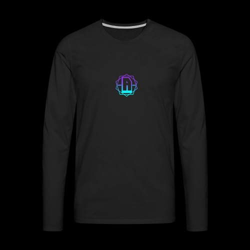 'A' Design Blue Edition - Men's Premium Longsleeve Shirt
