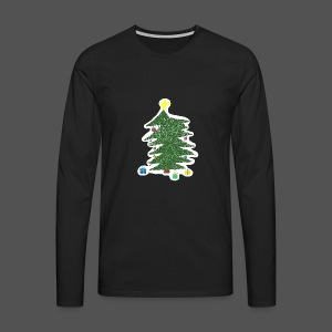 Christmas Kids-Drawing - Männer Premium Langarmshirt