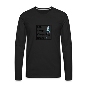 eat sleep canyoning repeat - Männer Premium Langarmshirt