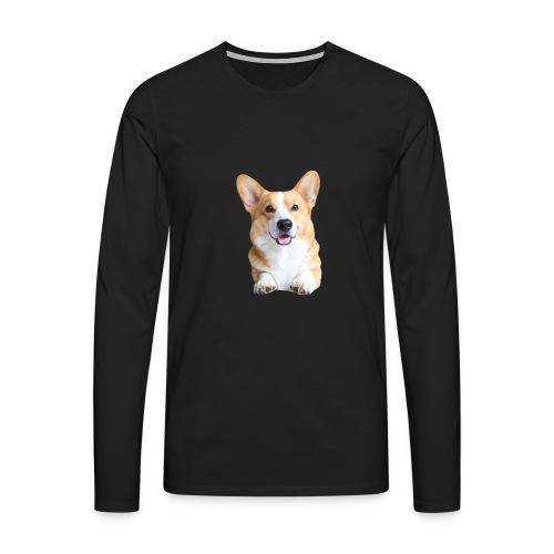 Topi the Corgi - Frontview - Men's Premium Longsleeve Shirt
