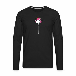 Janina Johnson Zipper Unicorn - Männer Premium Langarmshirt