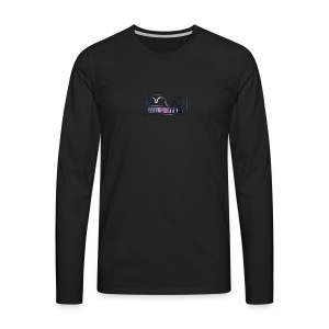 Cap logo Purple - Men's Premium Longsleeve Shirt