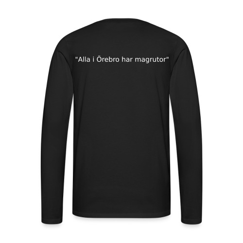 Ju jutsu förslag 2 version 1 vit text - Långärmad premium-T-shirt herr