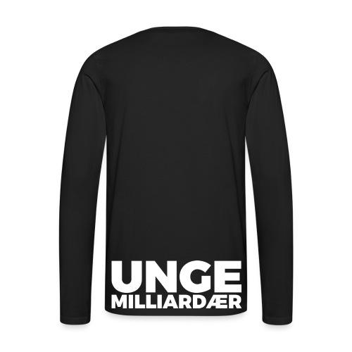 unge-mill-logo-hvit - Premium langermet T-skjorte for menn