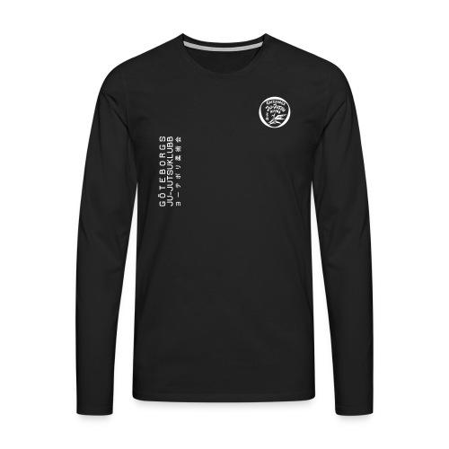rygg centrerad tshirt hoodjacka troeja - Långärmad premium-T-shirt herr