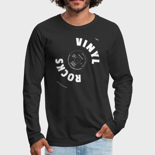 T-Record - Vinyl Rocks! - Mannen Premium shirt met lange mouwen