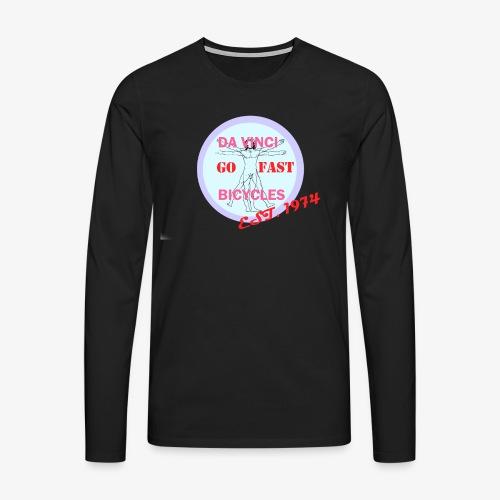 daVinci Bicycles Retro - Miesten premium pitkähihainen t-paita