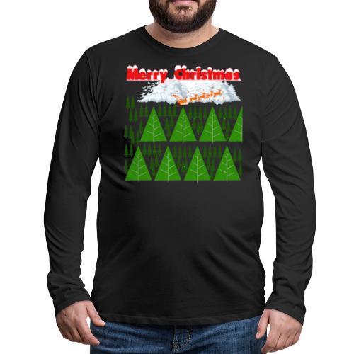 #natale, #christmas e amore per la famiglia - Maglietta Premium a manica lunga da uomo