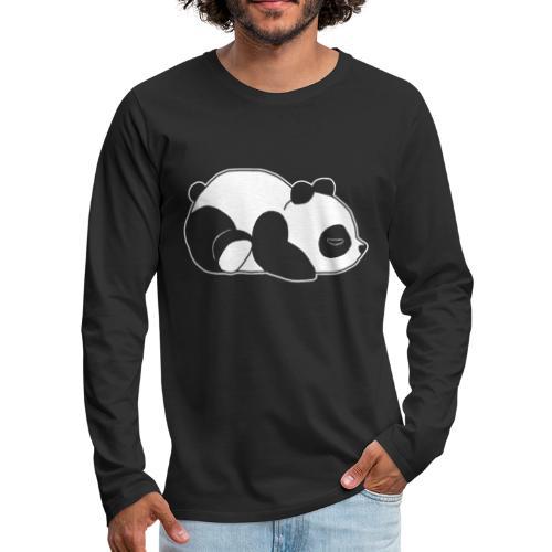 Panda, süß, Tier, Comic - Männer Premium Langarmshirt