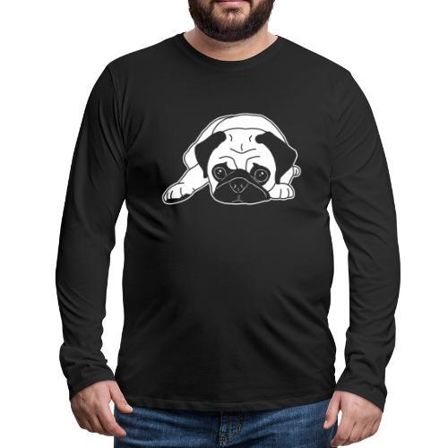 Mops, Hund, Hunderasse, Geschenkidee, süß, Comic - Männer Premium Langarmshirt
