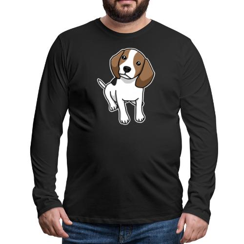 Beagle, Hund, Hunderasse, Comic, Geschenkidee - Männer Premium Langarmshirt