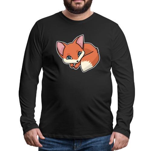 Fuchs, Fuchswelpe, Rotfuchs, Comic, süß - Männer Premium Langarmshirt