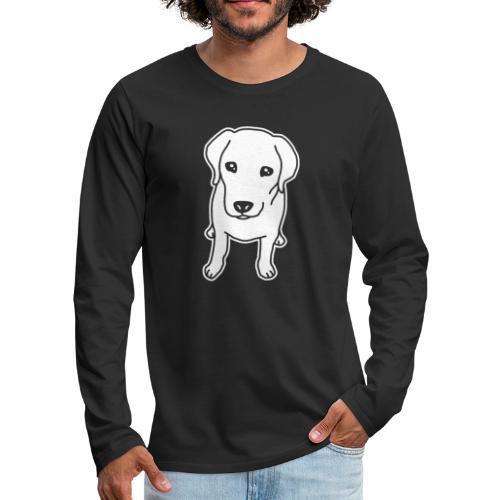 Labrador Retriever, Hund, Comic - Männer Premium Langarmshirt