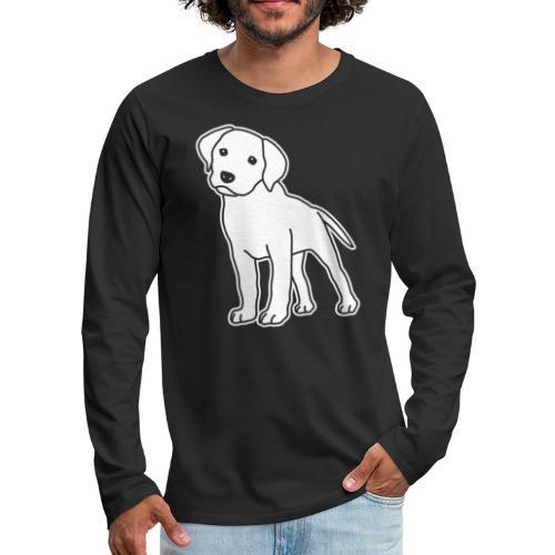 Labrador, Retriever, Hund, Comic, Welpe, süß - Männer Premium Langarmshirt