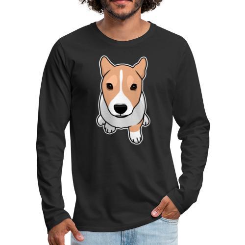 Corgi, Hund, Welsh Corgi Pembroke, Comic, süß - Männer Premium Langarmshirt