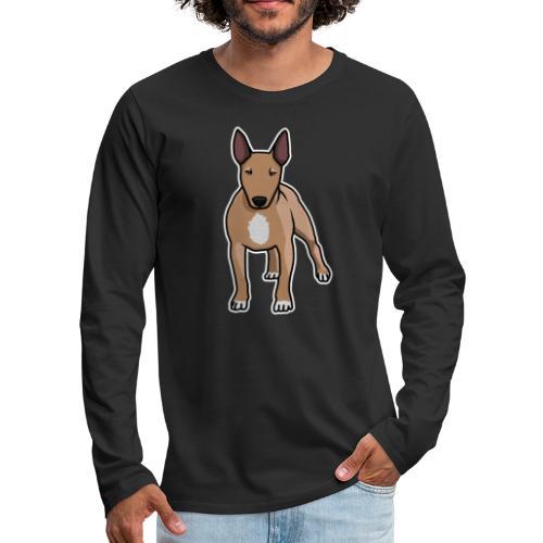 Bullterrier, Hund, Comic - Männer Premium Langarmshirt