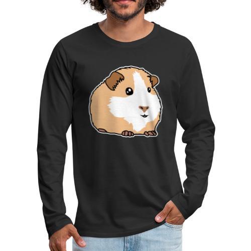Meerschweinchen, Hausmeerschweinchen, Tier, kawaii - Männer Premium Langarmshirt
