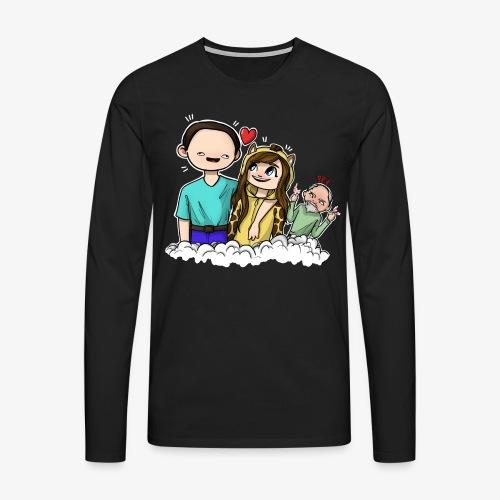 *Limited Edition* Esmee ❤️ Teun (Boze vader) - Mannen Premium shirt met lange mouwen