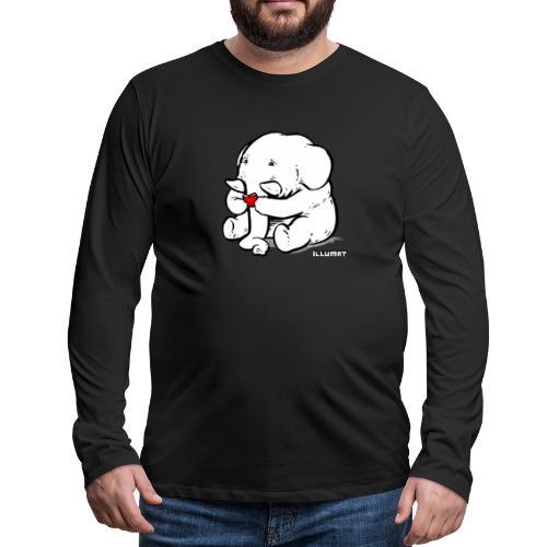 Stef 0002 00 Lesefant - Männer Premium Langarmshirt