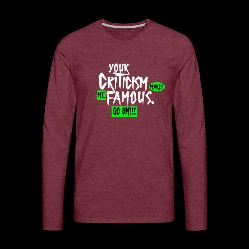 CRITICA 2 - Camiseta de manga larga premium hombre