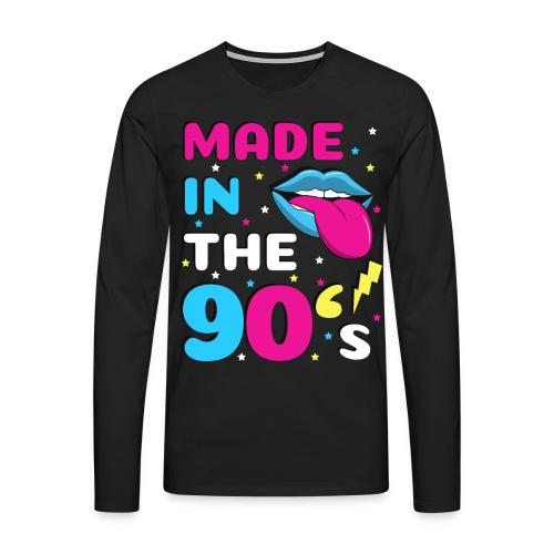 90er Jahre Party Feiern Mottoparty 90s - Männer Premium Langarmshirt