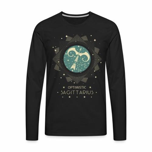 Sternbild Optimistischer Schütze November Dezember - Männer Premium Langarmshirt