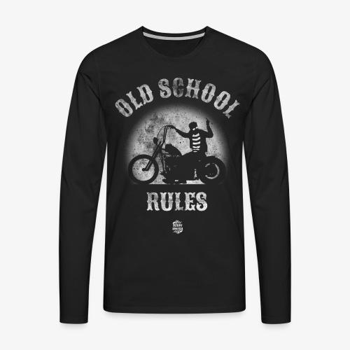 OldSchoolRules2 - Camiseta de manga larga premium hombre