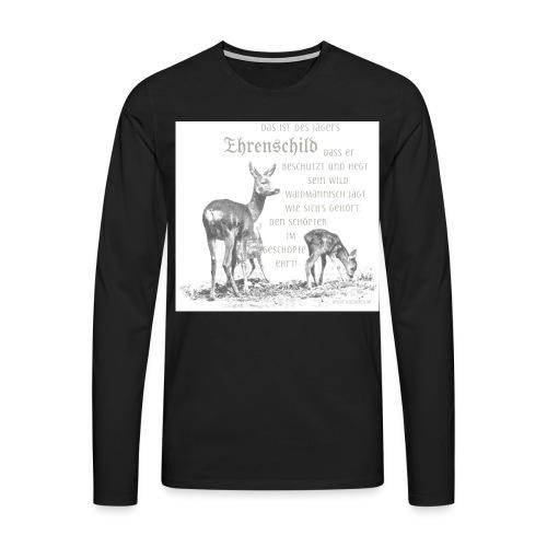 EHRENSCHILDSAFE1Sh - Männer Premium Langarmshirt