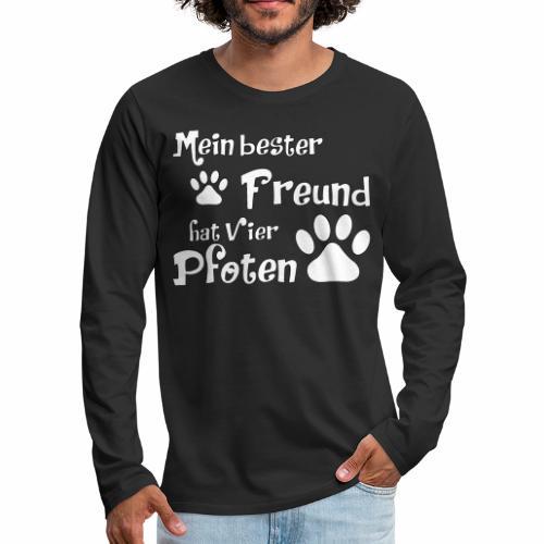 Mein bester Freund hat vier Pfoten - Katze - Männer Premium Langarmshirt