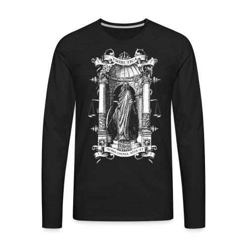 Mors Omnia Aequat BY TRIBUTICA® - Männer Premium Langarmshirt