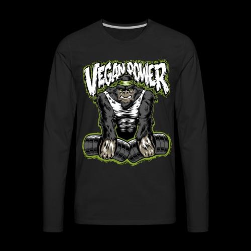 veganpower Muskel Gorilla - Männer Premium Langarmshirt