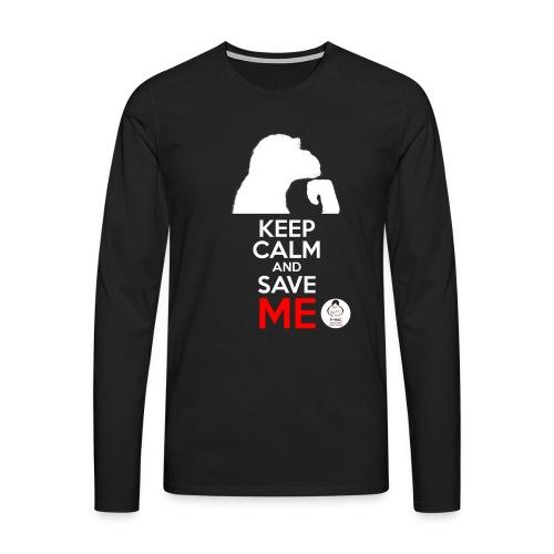 design_keep calm_blanc.png - T-shirt manches longues Premium Homme