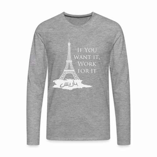 Paris dream work - T-shirt manches longues Premium Homme