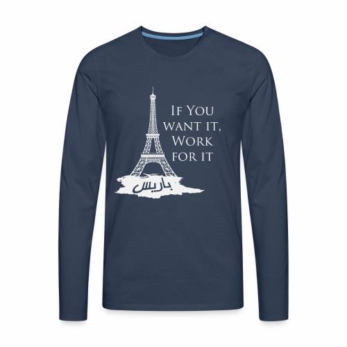 Paris dream work - T-shirt manches longues Premium Homme