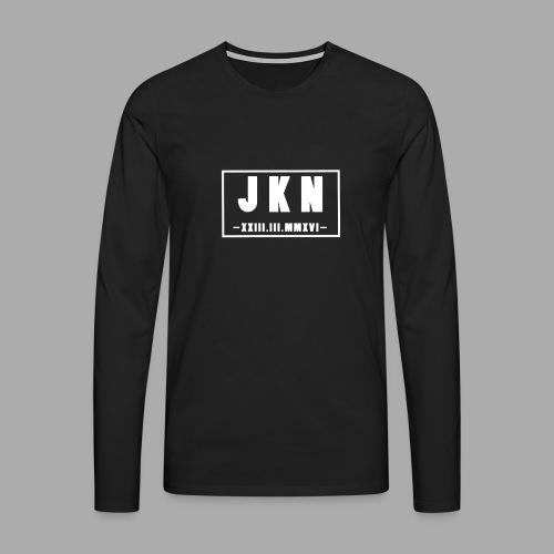 JKN DATUM png - Männer Premium Langarmshirt