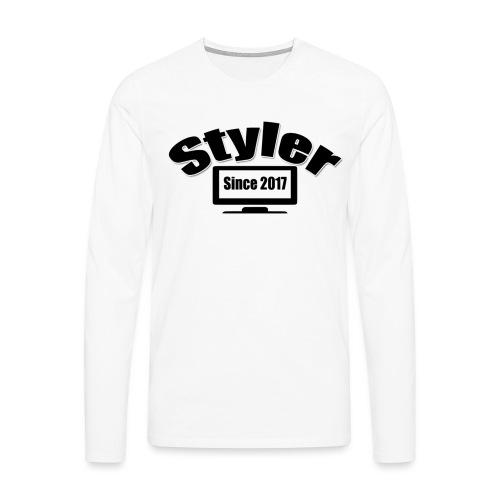 Styler Designer Kleding - Mannen Premium shirt met lange mouwen