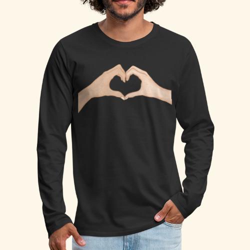 Mains Coeur Amour - Love hands - T-shirt manches longues Premium Homme