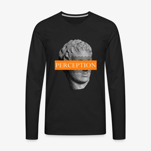 TETE GRECQ ORANGE - PERCEPTION CLOTHING - T-shirt manches longues Premium Homme