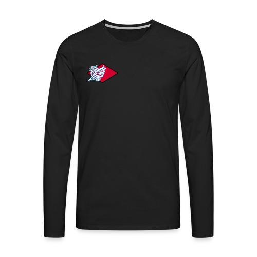 Red logo - Men's Premium Longsleeve Shirt