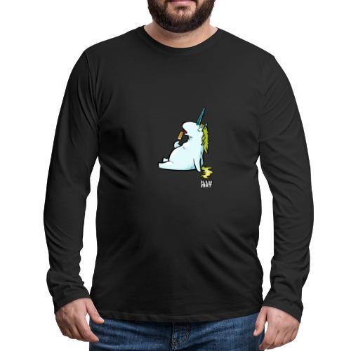 STE 0006 00 Eis Einhorn - Männer Premium Langarmshirt