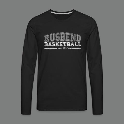 Rusbendbasketballlogo_gra - Männer Premium Langarmshirt