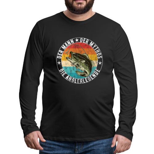 Angler - Der Mann Der Mythos Die Anglerlegende - Männer Premium Langarmshirt