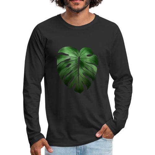 Foglia dalla Natura - Maglietta Premium a manica lunga da uomo