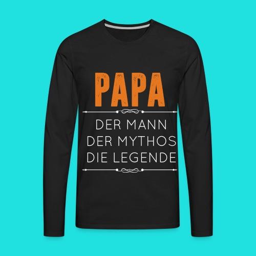 Papa - Männer Premium Langarmshirt