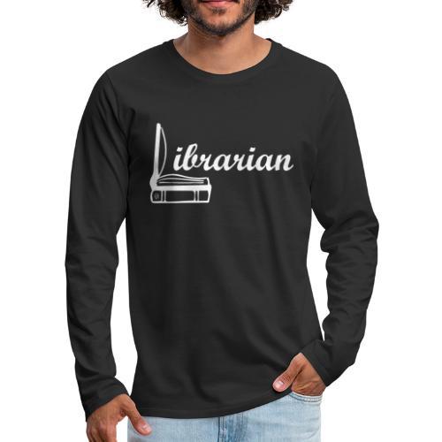 0325 Librarian Librarian Cool design - Men's Premium Longsleeve Shirt