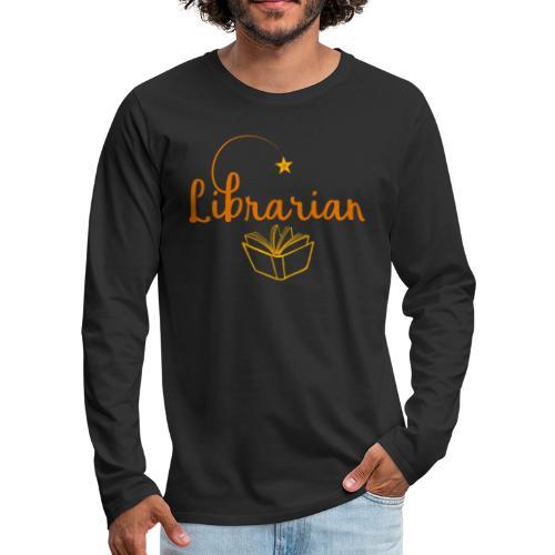 0327 Librarian Librarian Library Book - Men's Premium Longsleeve Shirt