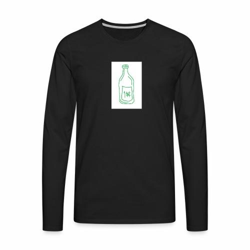 Alkoholi - Miesten premium pitkähihainen t-paita