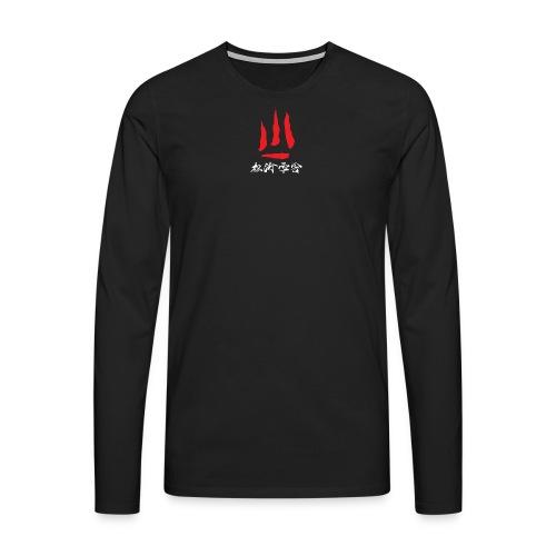 stort logo png - Herre premium T-shirt med lange ærmer